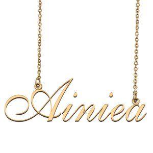 Custom Personalized Ainiea Name Necklace